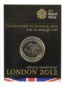 2009 COUNT DOWN TO THE OLYMPICS £5 COIN Short Version